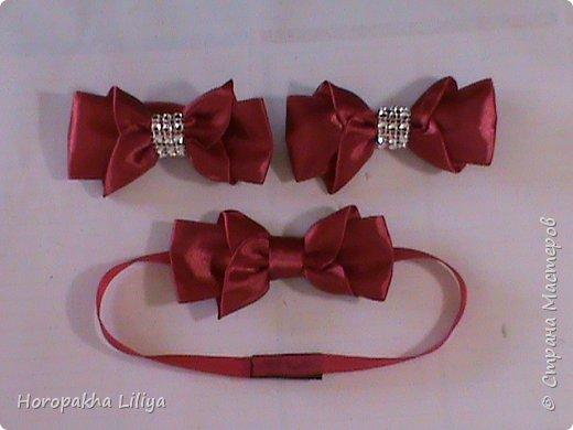 Бабочка для мальчиков и бантики для девочек на заколочке и резиночке