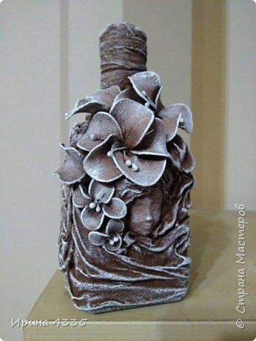 Декор бутылки в подарок фото 2
