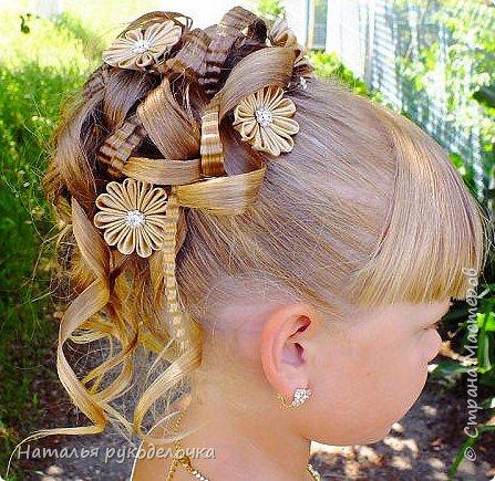 Добрый день, Страна Мастеров! Сделала для любимой крестницы шпильки для волос в стиле канзаши. Попросила меня кума сделать шпильки в прическу для выпускного, чтоб по цвету они подходили к выпускному платью, долго с ней выбирали цвет и форму этих шпилек. И вот, что вышло. фото 2