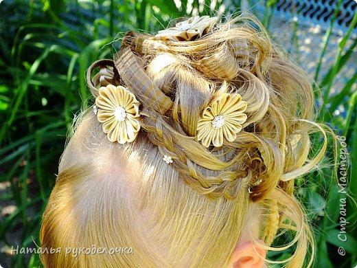 Добрый день, Страна Мастеров! Сделала для любимой крестницы шпильки для волос в стиле канзаши. Попросила меня кума сделать шпильки в прическу для выпускного, чтоб по цвету они подходили к выпускному платью, долго с ней выбирали цвет и форму этих шпилек. И вот, что вышло. фото 6