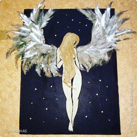 Вторая выставочная работа. Всем привет.  Не судите строго моего ангела, крылья делал в первый раз. фото 14