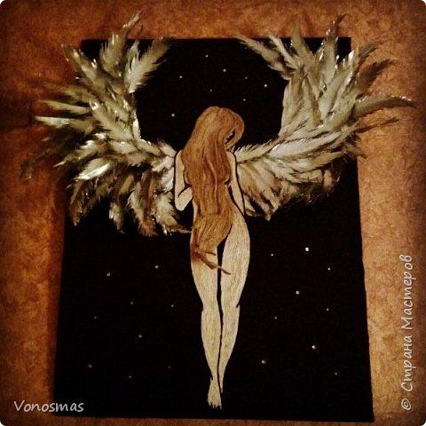 Вторая выставочная работа. Всем привет.  Не судите строго моего ангела, крылья делал в первый раз. фото 1