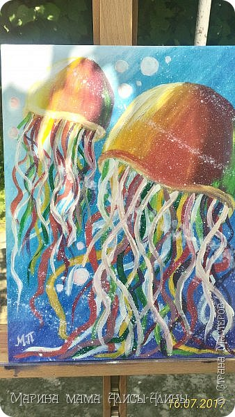 Нарисовала вот таких медуз)) фото 2