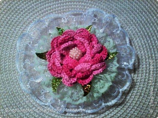 Вязаные розы фото 2
