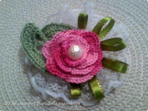 Вязаные розы фото 3