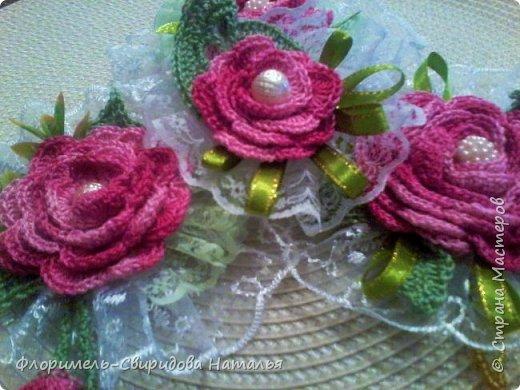 Вязаные розы фото 1
