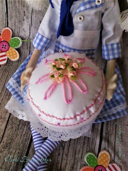 Привет всем в СМ!  Для участия в кукольном марафоне в Инстаграм по МК Светланы Хачиной сшила куклу-повара. фото 5
