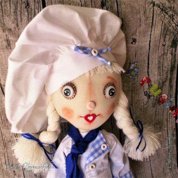 Привет всем в СМ!  Для участия в кукольном марафоне в Инстаграм по МК Светланы Хачиной сшила куклу-повара. фото 1