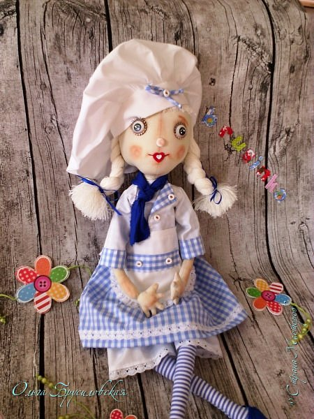 Привет всем в СМ!  Для участия в кукольном марафоне в Инстаграм по МК Светланы Хачиной сшила куклу-повара. фото 2
