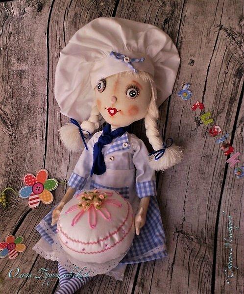 Привет всем в СМ!  Для участия в кукольном марафоне в Инстаграм по МК Светланы Хачиной сшила куклу-повара. фото 6
