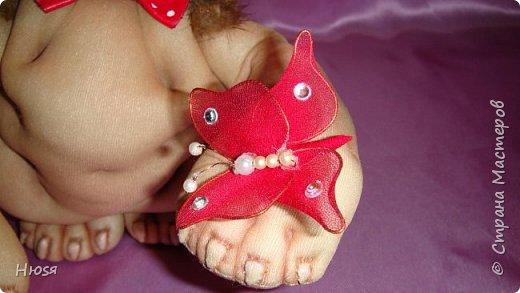"""Кукла- Пёсик (2), выполнена в технике """"скульптурный текстиль"""". Материал: капрон, синтепон . Передние лапки на каркасной основе- принимают любое положение. Размер: 28 см . фото 8"""