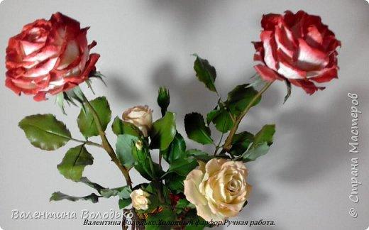 Доброе утро мастера и мастерицы!!!!Попросили меня слепить еще две розы к давнишнему букету,вот результат. фото 1