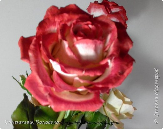 Доброе утро мастера и мастерицы!!!!Попросили меня слепить еще две розы к давнишнему букету,вот результат. фото 2