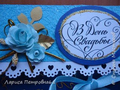 Доброе время суток жители Страны Мастеров !!! Лето - время многочисленных свадеб  И меня попросили сделать  такой  подарочек  для сына моих друзей Делала первым в голубом варианте , потом захотелось  сделать и сиреневый  фото 11