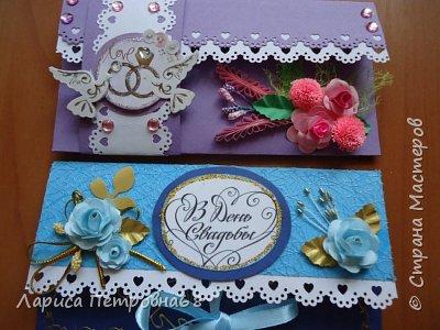 Доброе время суток жители Страны Мастеров !!! Лето - время многочисленных свадеб  И меня попросили сделать  такой  подарочек  для сына моих друзей Делала первым в голубом варианте , потом захотелось  сделать и сиреневый  фото 20