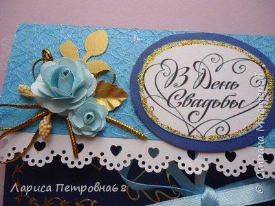 Доброе время суток жители Страны Мастеров !!! Лето - время многочисленных свадеб  И меня попросили сделать  такой  подарочек  для сына моих друзей Делала первым в голубом варианте , потом захотелось  сделать и сиреневый  фото 12