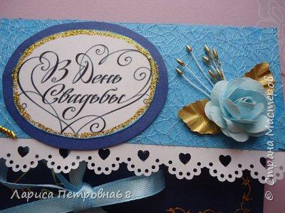 Доброе время суток жители Страны Мастеров !!! Лето - время многочисленных свадеб  И меня попросили сделать  такой  подарочек  для сына моих друзей Делала первым в голубом варианте , потом захотелось  сделать и сиреневый  фото 13