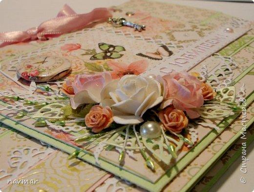 Здравствуйте, друзья! Вот такая открытка у меня сложилась к юбилею одной милой женщины. фото 8