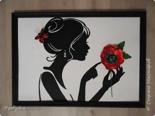 "Картина ""Силуэт грациозной девушки"", размер 35*50"