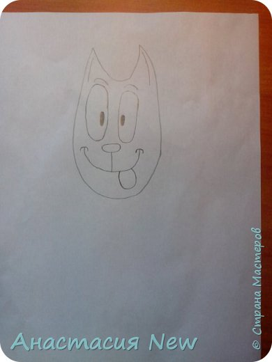 Всем привет, и сегодня мы будем рисовать веселого кота! фото 7