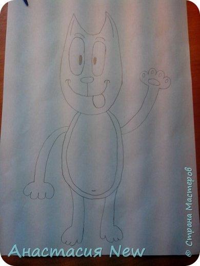 Всем привет, и сегодня мы будем рисовать веселого кота! фото 12