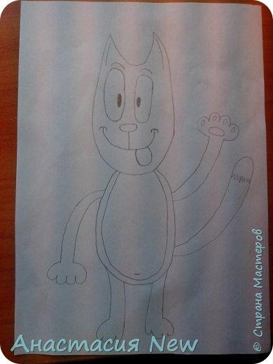 Всем привет, и сегодня мы будем рисовать веселого кота! фото 13