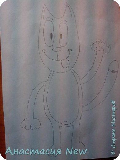 Всем привет, и сегодня мы будем рисовать веселого кота! фото 14