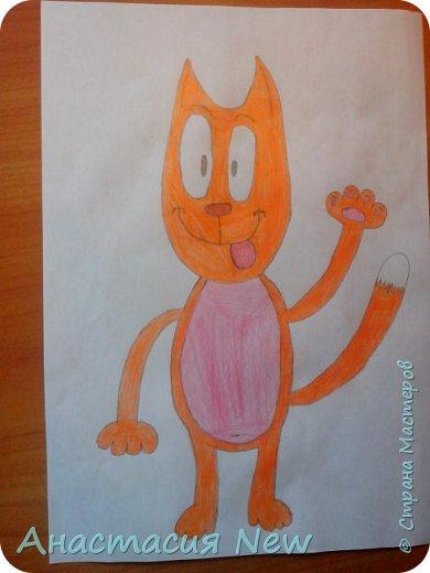 Всем привет, и сегодня мы будем рисовать веселого кота! фото 15
