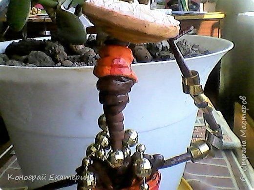 Всем привет, это моя первая работа, так что пожалуйста не судите строго)))Африканка из бумажных трубочек, сделанная по мастер классу Герменчук Светланы Александровны. фото 2