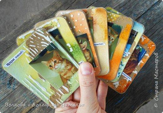 """Всем привет!    Для начала разъясню, что такое STC. Это всё та же ATC (""""эй-ти-си"""" или как часто по-русски говорят """"а-тэ-эс"""", расшифровывается как Artist Trading Card (англ. обменная карточка художника), только вместо """"Artist"""" (художник) у меня """"Scrapbooker"""" (скрапбукер). Вот такая дерзость с моей стороны - взять да подредаХтировать название:) Таки привязалась я к этому слову """"Artist"""":) Казалось бы, ну зачем? Традиция делать эти карточки пошла от художников да стоило ли переиначивать под скраперов?:) Да кто знает - с одной стороны нет, ибо """"художник"""" понятие растяжимое и в какой-то степени мы, скраперы, тоже художники:); с другой стороны - можно ведь и уточнить в какой именно области художественности эти самые карточки:)     Скраперские визитные обменные карточки, тобишь STC (""""эc-ти-си"""" или по-русски """"эс-тэ-эс"""" или """"сэ-тэ-эс"""") я делала впервые. По правде сказать, я раньше не понимала для чего делать эти милипуськи, они же не практичны. Это ведь не альбом:) А тут вдруг прониклась темой АТС. Стала читать статьи, заметки, по блогам смотреть кто и какие карточки делал и делает.      И у многих, кто делал их впервые (я имею в виду тех, кто в скрапе давненько, а АТС так ещё и не скрапил) видела фразу вроде """"наконец-то я созрела/доросла до АТС"""". Вот-вот, и я про себя то же самое могу сказать, хотя до этого считала, что именно с них то по идее и должен у большинства начинаться скрап-опыт. Вроде бы, это всего лишь малюсенькие карточки, намного меньше открыток, что их делать плёвое дело. Однако, нет. До них оказывается и правда нужно созреть:) Причём - не знаю как у других - для меня это созреть морально прежде всего. Так, чтоб накрыло вдохновение их сделать.     В итоге я замахнулась разом на 30 (!!!!) карточек, хотя знаю, что обычно их в серии бывает в среднем 3-5 (ну до 10 наверное), но, как говорится, гулять так гулять. фото 49"""