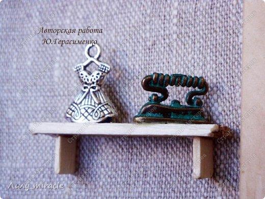 """Доброго всем времени суток! Я сегодня похвастаюсь второй ключницей (первая ВОТ http://stranamasterov.ru/node/1106730 ) В продолжение линии """"Sweet home"""" представляю вашему вниманию вторую ключницу """"Мастерская"""". фото 2"""