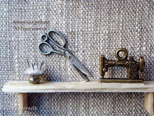 """Доброго всем времени суток! Я сегодня похвастаюсь второй ключницей (первая ВОТ https://stranamasterov.ru/node/1106730 ) В продолжение линии """"Sweet home"""" представляю вашему вниманию вторую ключницу """"Мастерская"""". фото 3"""