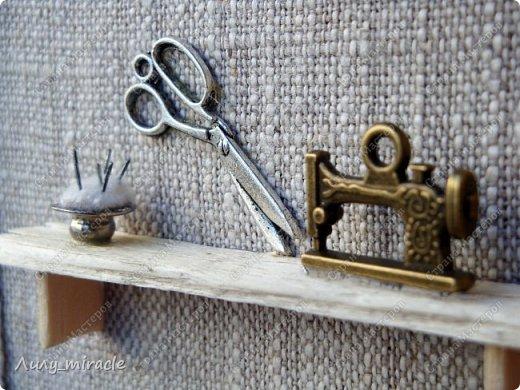 """Доброго всем времени суток! Я сегодня похвастаюсь второй ключницей (первая ВОТ https://stranamasterov.ru/node/1106730 ) В продолжение линии """"Sweet home"""" представляю вашему вниманию вторую ключницу """"Мастерская"""". фото 4"""