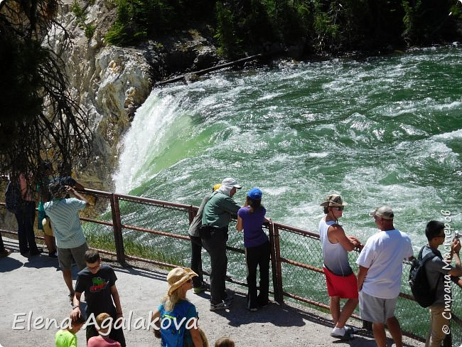 Продолжаю делится впечатлениями от поездки в Йе́ллоустон (Yellowstone National Park)— международный биосферный заповедник, объект Всемирного Наследия ЮНЕСКО, первый в мире национальный парк (основан 1 марта 1872 года). Находится в США, на территории штатов Вайоминг, Монтана и Айдахо. Парк знаменит многочисленными гейзерами и другими геотермическими объектами, богатой живой природой, живописными ландшафтами. ( взято из Википедии ) Мы останавливались в кемпингах в палатках. Парк произвел на нас огромное впечатление. Очень хочется поделится с вами красотой которую я увидела. В один фоторепортаж трудно вместить все увиденное поэтому это уже пятый и будут еще... В этот раз я покажу фото Большого каньона парка Йеллоустон.  Жалко что при загрузке фото уменьшаются и теряется качество поэтому смотрятся картинки плоско... но с этим я ничего поделать не могу. фото 19