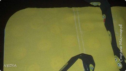 я взяла 2 ткани обычные, с размером в длину 22 см и в ширину 62 см. фото 6