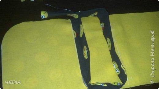я взяла 2 ткани обычные, с размером в длину 22 см и в ширину 62 см. фото 7