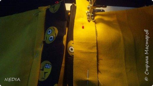 я взяла 2 ткани обычные, с размером в длину 22 см и в ширину 62 см. фото 12