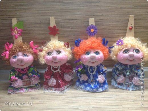 Здравствуйте,жители Страны Мастеров!!! Показываю мои новые работы. Куколки-обережки на лопатках по МК Марии Лариной. У всех куколок сделала разные глазки,поэтому они сильно отличаются друг от друга. У трёх куколок самодельные глазки,у последней - покупные. фото 5