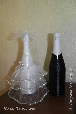 Мой первый опыт в декорировании бутылок.  Старалась для сестры. фото 5