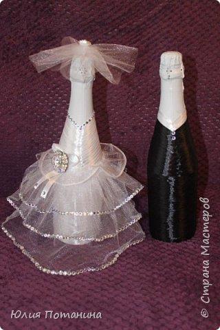 Мой первый опыт в декорировании бутылок.  Старалась для сестры. фото 1