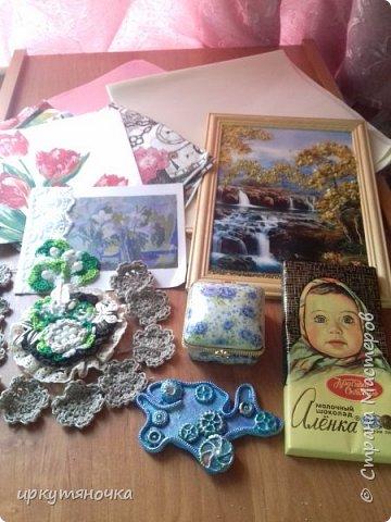 Привезла свекровь две посылочки. Первой открыла от Ларисы http://stranamasterov.ru/user/15420 фото 1