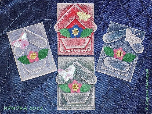 Приветствую всех гостей моей странички!!! Я сегодня с очередной серией АТС. Заготовки сувенирных домиков лежали с прошлого года, по образу и подобию сделаны мои карточки и все вместе покрашены. По ходу работы над карточками родились еще маленькие домики для цветочных вазонов, но обо всём по порядку. К выбору карточек приглашаю Элайджу и Svetlana Ch. фото 2
