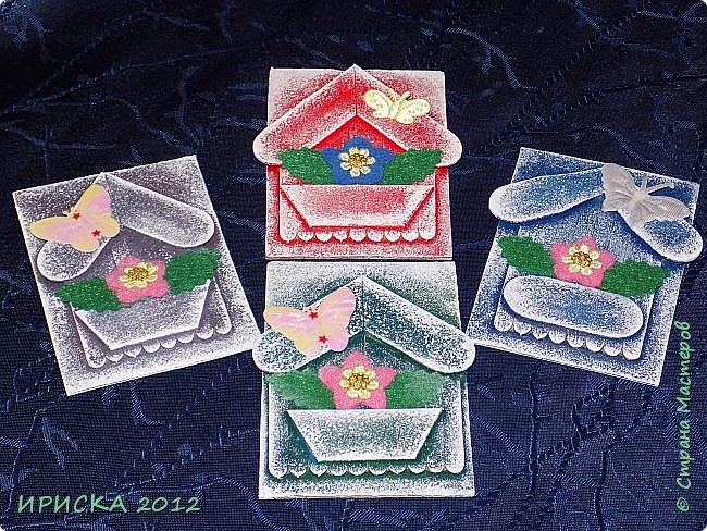 Приветствую всех гостей моей странички!!! Я сегодня с очередной серией АТС. Заготовки сувенирных домиков лежали с прошлого года, по образу и подобию сделаны мои карточки и все вместе покрашены. По ходу работы над карточками родились еще маленькие домики для цветочных вазонов, но обо всём по порядку. К выбору карточек приглашаю Элайджу и Svetlana Ch. фото 3