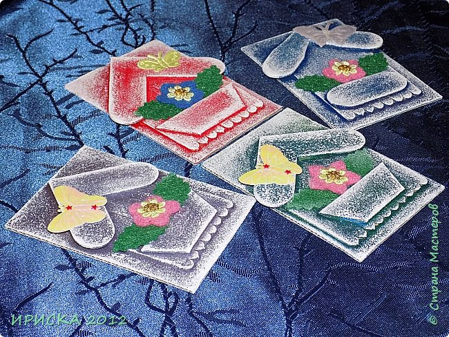 Приветствую всех гостей моей странички!!! Я сегодня с очередной серией АТС. Заготовки сувенирных домиков лежали с прошлого года, по образу и подобию сделаны мои карточки и все вместе покрашены. По ходу работы над карточками родились еще маленькие домики для цветочных вазонов, но обо всём по порядку. К выбору карточек приглашаю Элайджу и Svetlana Ch. фото 4