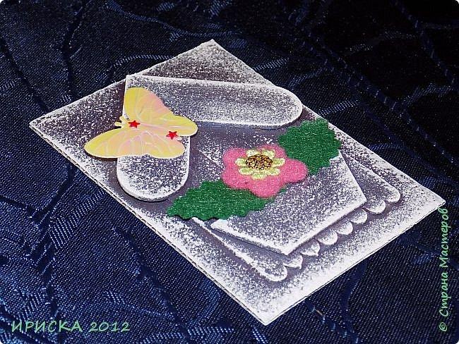 Приветствую всех гостей моей странички!!! Я сегодня с очередной серией АТС. Заготовки сувенирных домиков лежали с прошлого года, по образу и подобию сделаны мои карточки и все вместе покрашены. По ходу работы над карточками родились еще маленькие домики для цветочных вазонов, но обо всём по порядку. К выбору карточек приглашаю Элайджу и Svetlana Ch. фото 12
