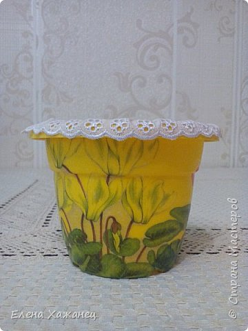 Цветочные горшочки фото 6