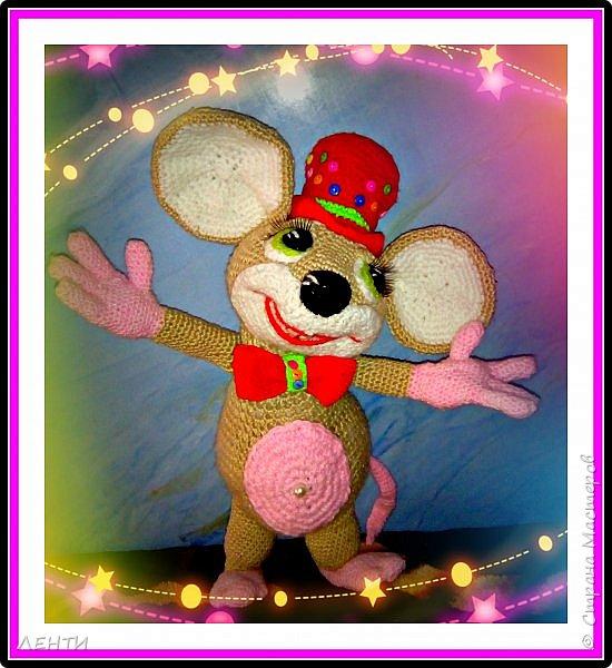 Добрый  вечер друзья!!!!!! Выношу на ваш суд )))) свои пробные работы, вязанные игрушки.Мышонок связан по мк Елены Беловой!!!! Леночка огромное спасибо, что делишься своим опытом !!!!  Захотелось внученькам игрушечки сделать, чтобы и мягкие были,уютные и яркие. Вот попробовала, ну а как у меня это получилось.....  фото 4