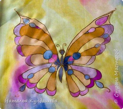 Платочек ручной росписи  по натуральному шёлку .1 фото 1