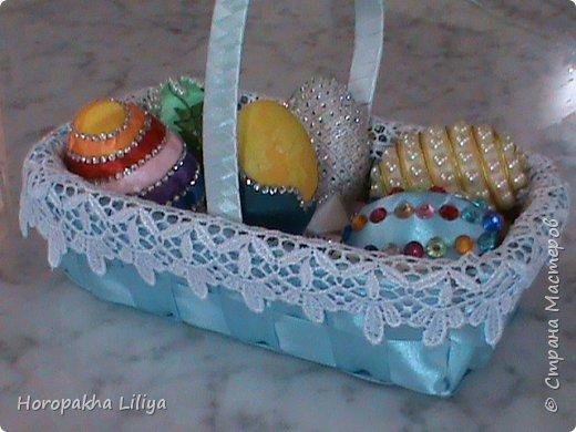 Корзинка для Пасхальных декоративных яиц, часть 1 и 2 фото 1
