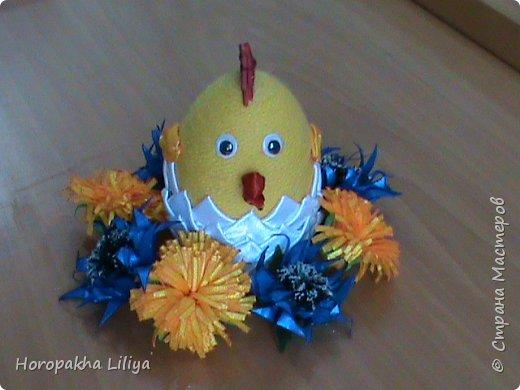 Проклюнувшийся Пасхальный цыпленок - канзаши